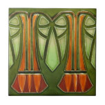 """AD028 Art Deco Reproduction Ceramic Tile<br><div class=""""desc"""">Historical antique tile reproduced on a smooth surface 4.25&quot; or 6&quot; ceramic tile. Perfect for interior tile wall accents, backsplashes, fireplace surrounds, bathroom and showers walls, kitchens and craft projects. Not intended for outdoor use. Our tiles are copies of costly authentic original antique tiles. Suggestion: Order one tile to review...</div>"""