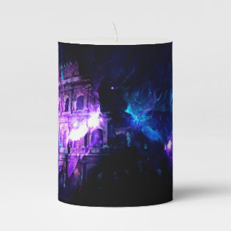 Ad Amorem Amisi Dreams of Roman Patterns Past Pillar Candle