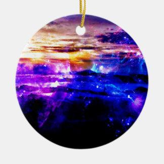Ad Amorem Amisi Vanilla Twilight Ceramic Ornament