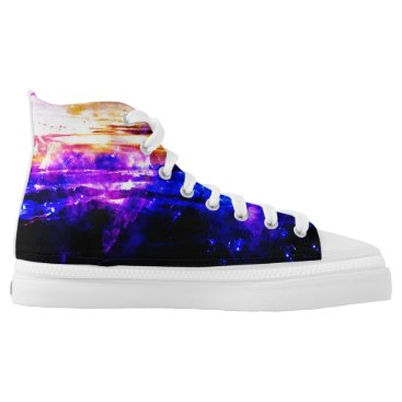Beach Themed Ad Amorem Amisi Vanilla Twilight High-Top Sneakers