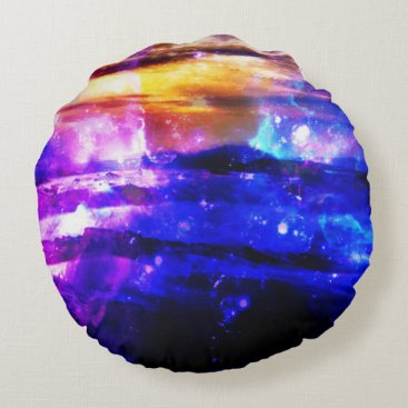 Beach Themed Ad Amorem Amisi Vanilla Twilight Round Pillow