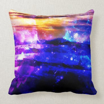 Beach Themed Ad Amorem Amisi Vanilla Twilight Throw Pillow