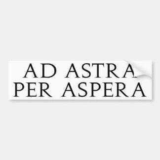 Ad Astra Per Aspera Bumper Sticker