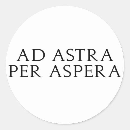 Ad Astra Per Aspera Classic Round Sticker