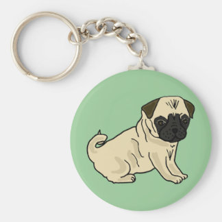 AD- Awesome Pug Basic Round Button Keychain
