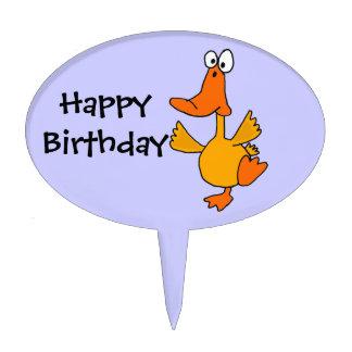 AD- Dancing Duck Birthday Cake Topper