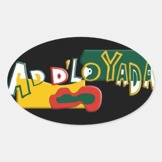 Ad dLo Yada Oval Sticker