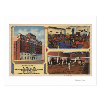 Ad for Army/Navy Y.M.C.A. Building Postcard