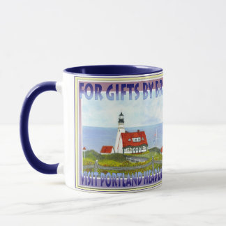 Ad For Portland Trolley by Brigid O'Neill Hovey Mug