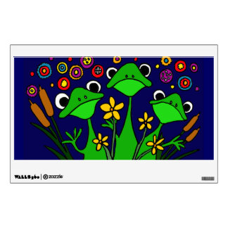 AD- Funny Folk Art Frog Wall Decal