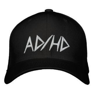 AD/HD EMBROIDERED BASEBALL CAP