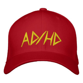 AD/HD - Red Embroidered Baseball Cap