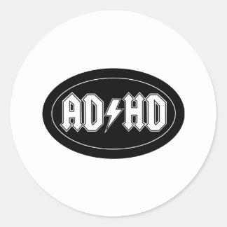 AD/HD ROUND STICKER