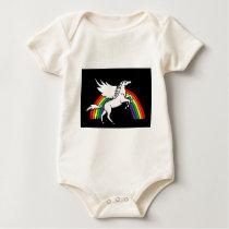 AD- Leaping Pegasus Art Baby Bodysuit