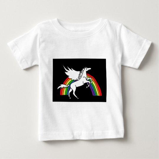 AD- Leaping Pegasus Art Baby T-Shirt
