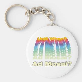 Ad Mosai Basic Round Button Keychain