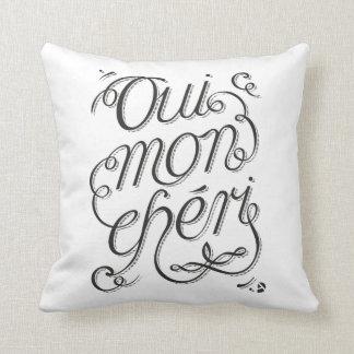 AD Oui Mon Cheri Throw Pillow