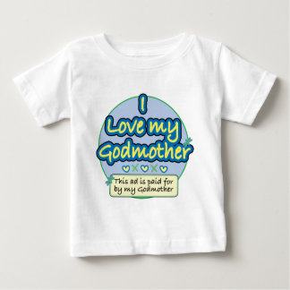 Ad paid for by my Godmother blue Baby T-Shirt