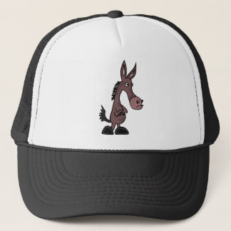 AD- Stubborn Mule or Donky Cartoon Trucker Hat