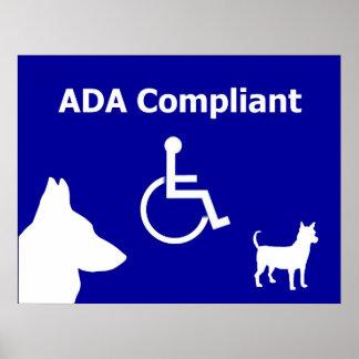 ADA Compliant Poster