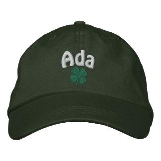 Ada  - Four Leaf Clover Embroidered Baseball Cap
