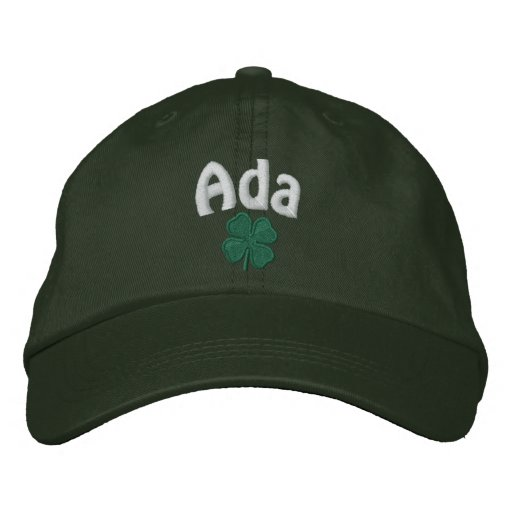 Ada  - Four Leaf Clover Embroidered Baseball Cap