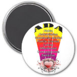 ADA Girl Name on Round Magnet