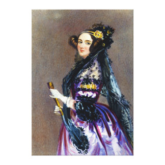 Ada King Countess of Lovelace by Alfred Chalon Canvas Print