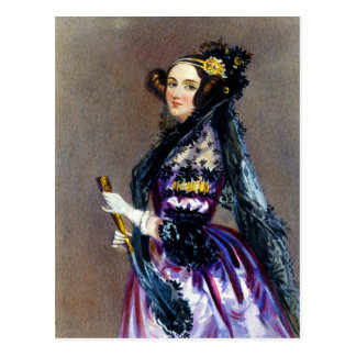 Ada King Countess of Lovelace by Alfred Chalon Postcard