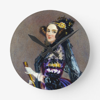 Ada King Countess of Lovelace by Alfred Chalon Round Clock