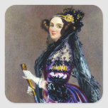 Ada King Countess of Lovelace by Alfred Chalon Square Sticker