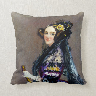 Ada King Countess of Lovelace by Alfred Chalon Throw Pillow