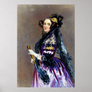 Ada Lovelace de Alfred Edward Chalon Póster
