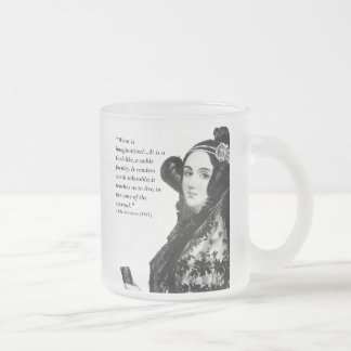 Ada Lovelace - on imagination Frosted Glass Coffee Mug