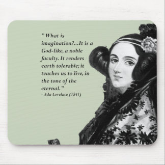 Ada Lovelace - on imagination Mouse Pad
