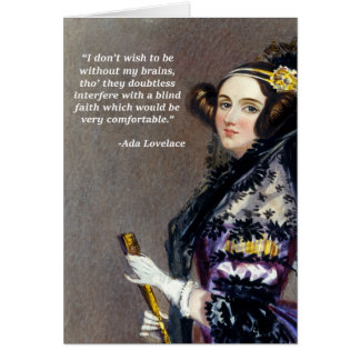 Ada Lovelace (Portrait by Alfred Chalon) Card