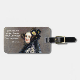 Ada Lovelace (Portrait by Alfred Chalon) Luggage Tag