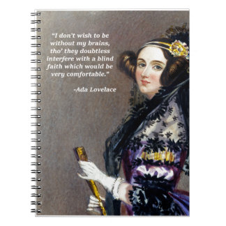 Ada Lovelace (Portrait by Alfred Chalon) Notebook