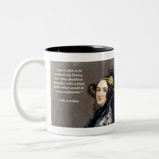 Ada Lovelace (Portrait by Alfred Chalon) Two-Tone Coffee Mug