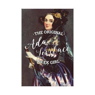 Ada Lovelace - The Original Geek Girl Canvas Print