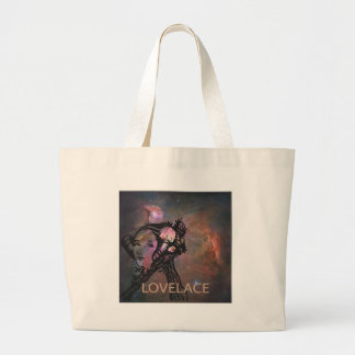 Ada Lovelace with Orion Nebula Large Tote Bag
