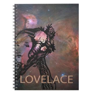 Ada Lovelace with Orion Nebula Spiral Notebook