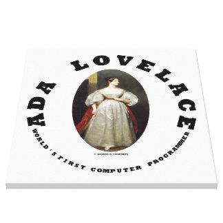 Ada Lovelace World's First Computer Programmer Canvas Print