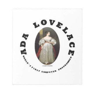 Ada Lovelace World's First Computer Programmer Notepad