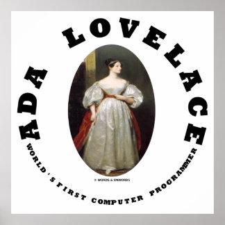 Ada Lovelace World's First Computer Programmer Poster