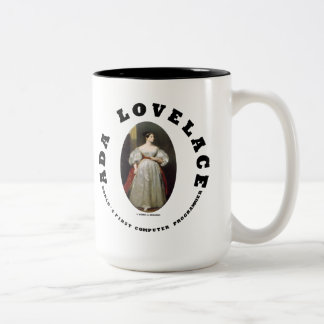 Ada Lovelace World's First Computer Programmer Two-Tone Coffee Mug