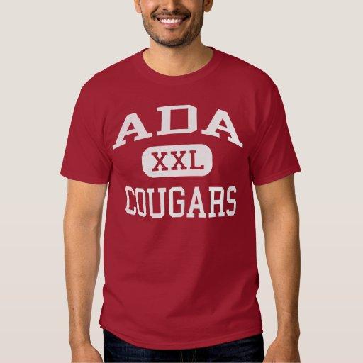 Ada - Pumas - escuela de secundaria - Ada Oklahoma Camisas