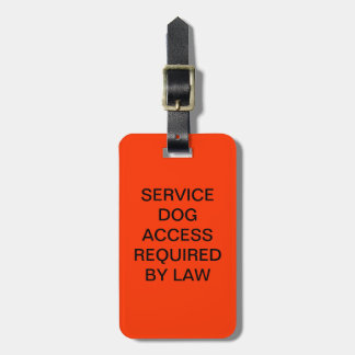 ADA Service Dog Law Tag With DOJ Phone Number