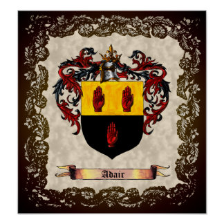 Adair Coat of Arms Poster