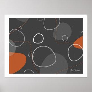 Adakame - poster abstracto Retro-Moderno Póster